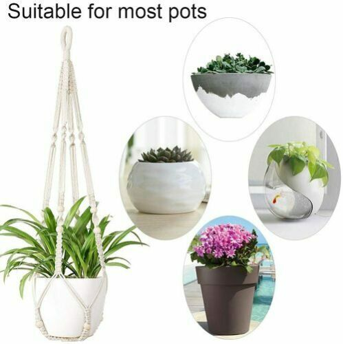 36 Types Macrame Plant Hangers Indoor Outdoor Hanging Baskets for Garden Plants