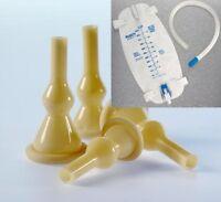 7 External Catheters 28 Mm Med. With / Tubing / Leg Bag For 7 Days
