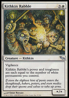 4 Kithkin Rabble ~ White Shadowmoor Mtg Magic Uncommon 4x x4
