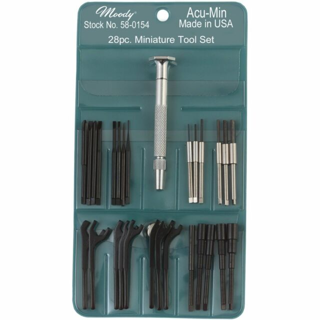 Moody Tools Stainless Steel Hex Precision Screwdriver Set, 28 Piece/58-0154