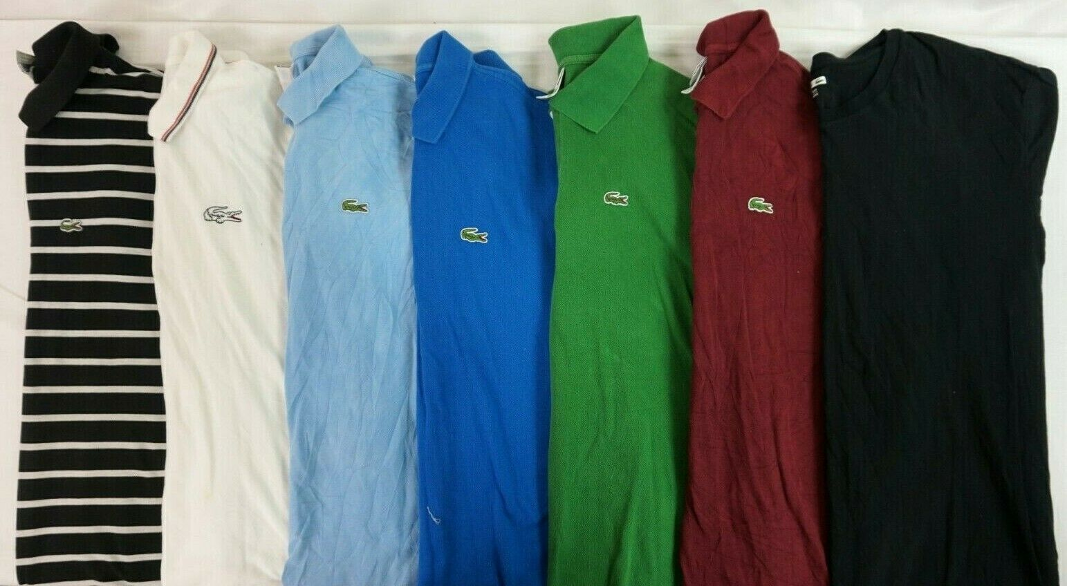 LACOSTE Lot of 7 Men's Short Sleeve Polo Shirts 7   US 2XL