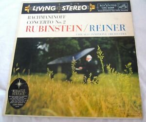 Rachmaninoff Concerto 2 Rubinstein RCA LSC 2068 Living Stereo Shaded Dog 7s/9s