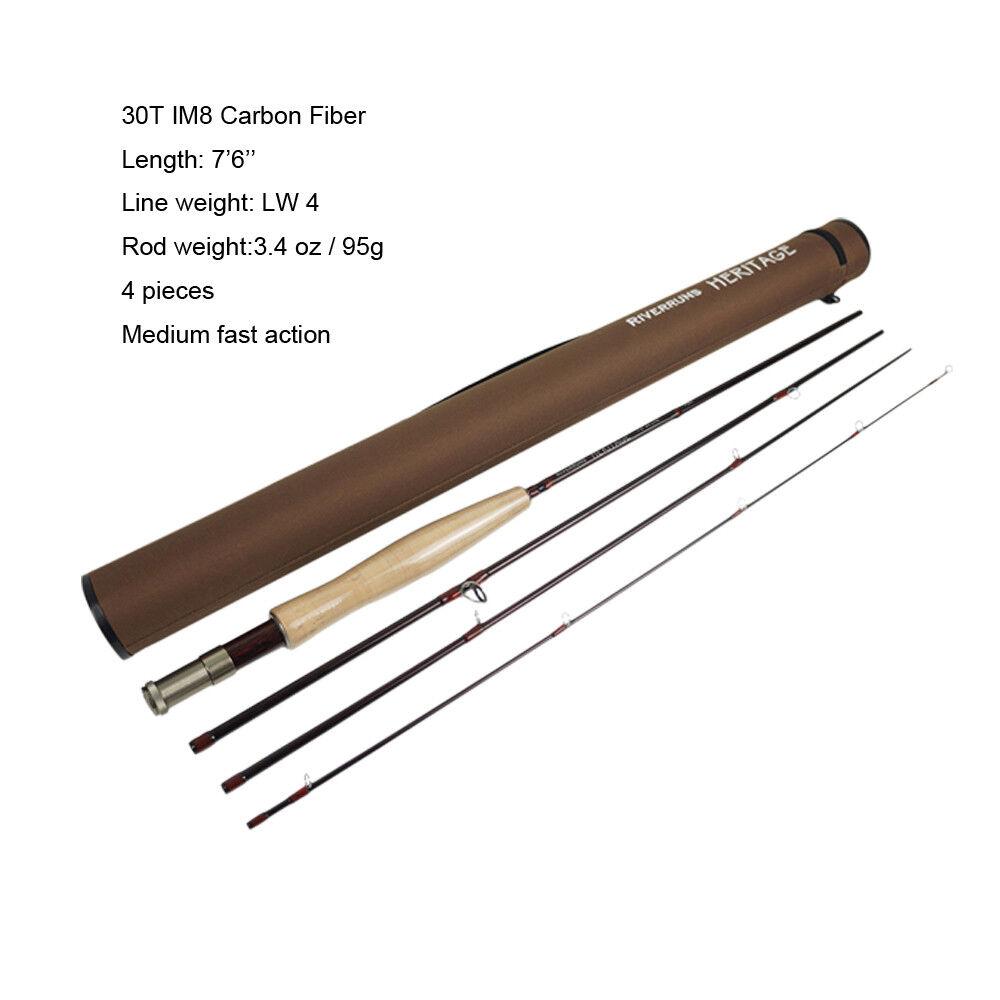 Riverruns 456WT Heritage IM8 Graphite Fly Fishing Rod Medium Fast Action