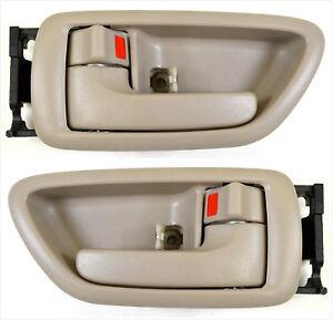 Tan Inside Door Handle Left For 01-07 Sequoia 04-06 Tundra Double Cab Beige