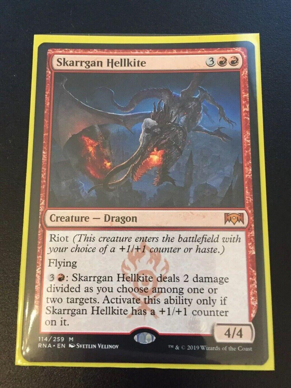 1x FOIL Skarrgan Hellkite Near Mint Magic mythic dragon Ravnica Allegiance RNA