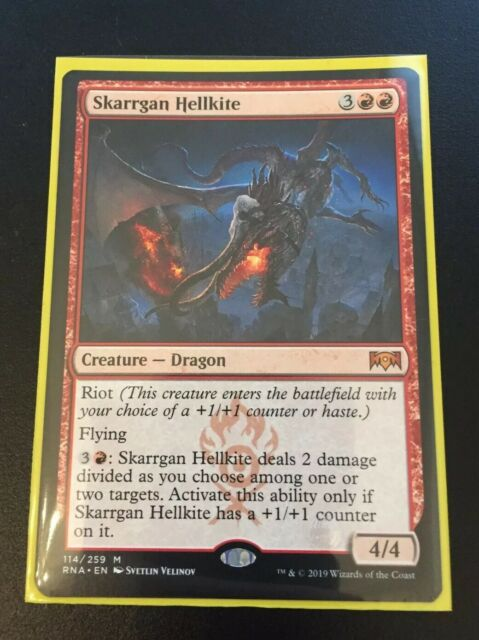1x FOIL Skarrgan Hellkite Near Mint Magic mythic dragon Ravnica Allegiance RNA