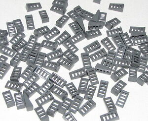 Lego-Lot-of-100-New-Dark-Bluish-Gray-Slope-18-2-x-1-x-2-3-with-4-Slots