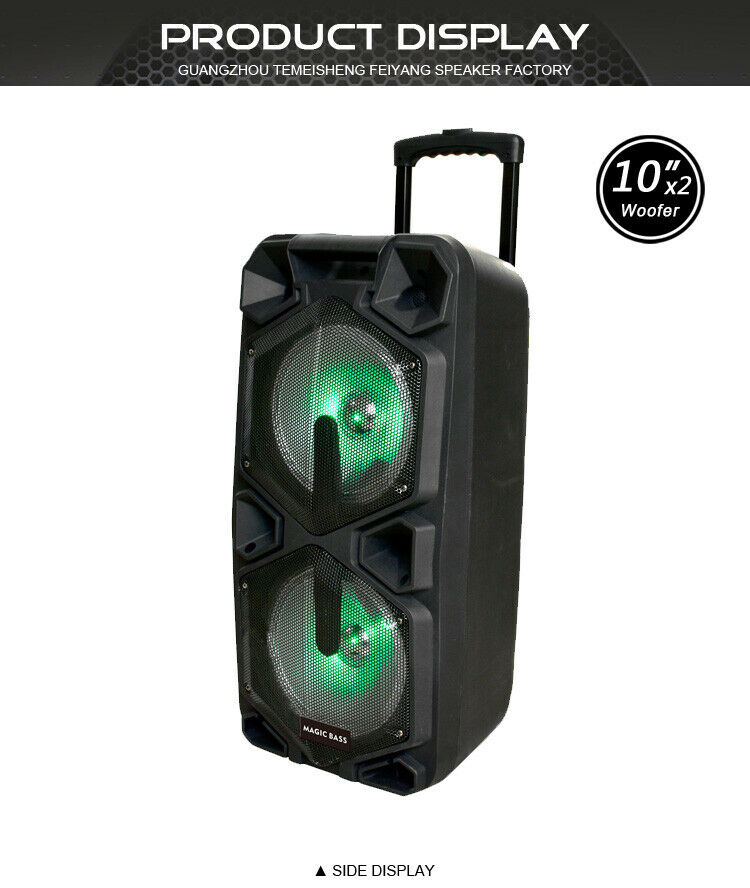 MG SP-210RBT Rechargeable Karaoke Party Speaker System Blautooth 4000w MagicBass