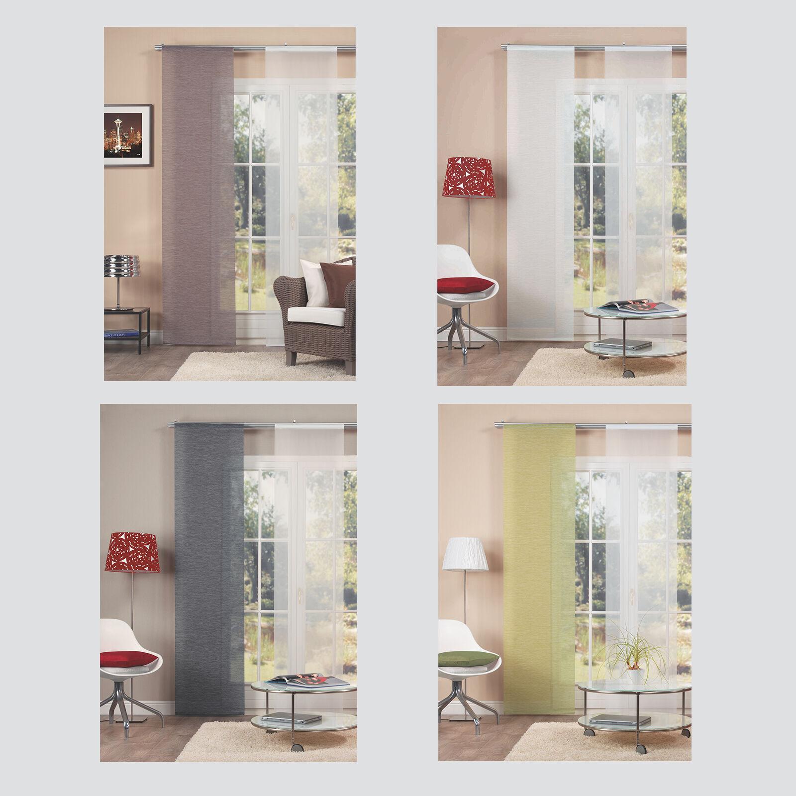 bambusoptik uni struktur schiebevorhang schiebegardine. Black Bedroom Furniture Sets. Home Design Ideas