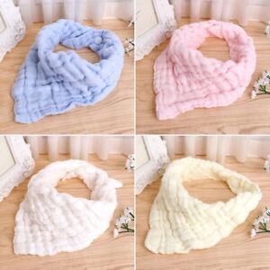 Infant Kids Baby Cotton Burp Feeding Saliva Towel Triangle Bandana Bibs Towel QK
