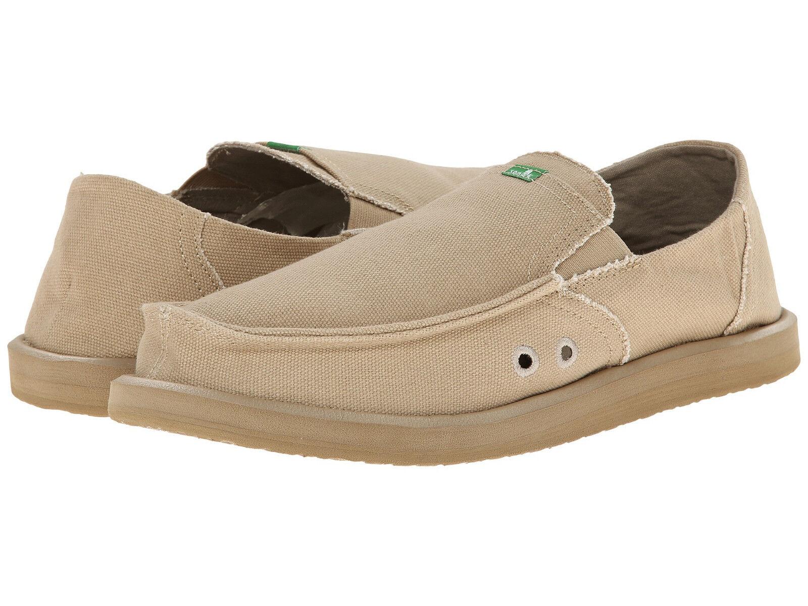Men Sanuk Pick Pocket Slip On Loafer SMF1032 Tan 100% Original Brand New