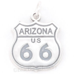 ROUTE-66-ARIZONA-Charm-STATE-USA-SIGN-Travel-Pendant-Solid-925-Sterling-Silver