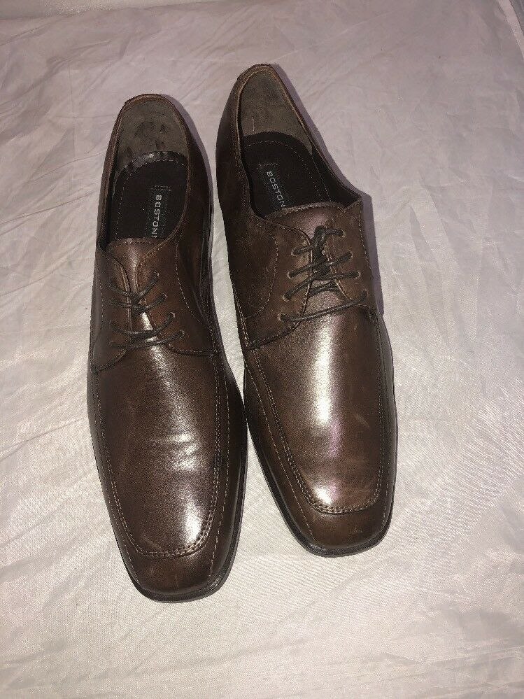 BOSTONIAN PURNEL MEN'S BROWN LEATHER 9.5 DRESS SHOES SZ 9.5 LEATHER b8bb19