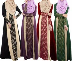 Front-lace-Musulman-Abaya-Over-Jilbab-Dress-Caftan-Kimono-Cardigan-Robe-8-10-12-14