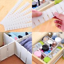 6 Stück Universal Schubladeneinteiler Schubladenteiler Fachteiler Zuschneidbar K