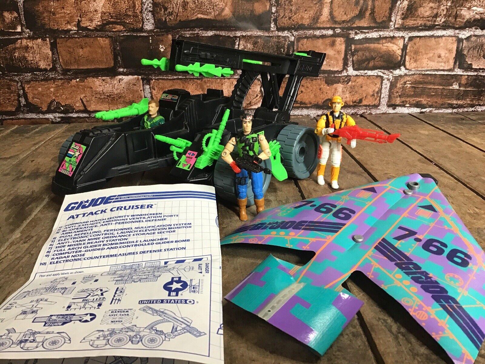 Vintage 1991 AIR COMuomoDOS  Attack Cruiser & Glider GI Joe ARAH LOT Hasbro