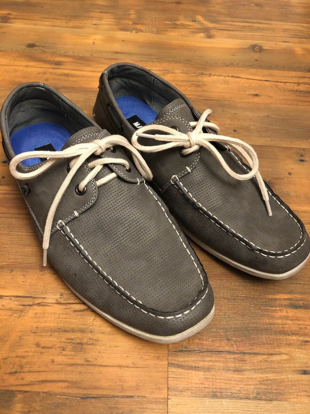 15e71448085 Steve Madden Size 9.5 Minnow Grey Mens Boat Shoes