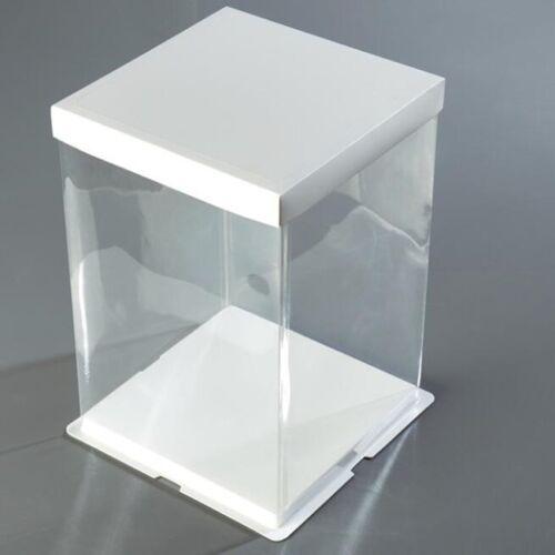 luxury presentation cake box 31cm x 31cm base Large 35cm clear plastic walls