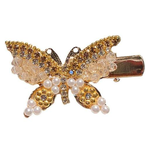 Female Jewelry Hair Clips Glitter Rhinestone Metal Butterfly Wedding Hairpins