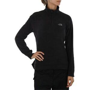 New-Womens-North-Face-Fleece-Glacier-1-4-Zip-Jacket-Black-White-Grey-Purple