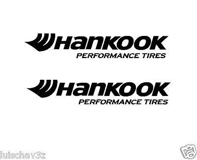 (2) 7 inch Hankook Performance Tires Decal Sticker