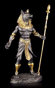 Agyptische-Krieger-Figur-Anubis-schwarz-gold-Agypten-Gottheit-LARP-Deko