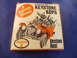 1970s VTG Keystone Kops Super 8 Black White 2 Sides Silent Movie Ships Free