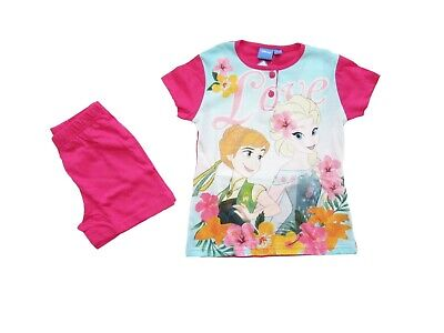 Pigiama corto bambina Frozen Disney Elsa Anna
