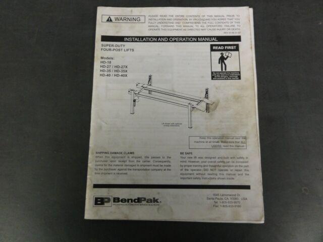 Wiring A Bend Pak Lift Manual Guide
