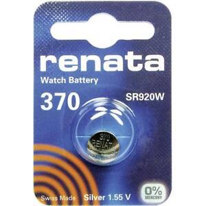 370 Batterie De Pièces De Monnaie Renata (sr920sw) 1.55v / Torches, Caméra, Keys H9hci7ad-07235941-561236168