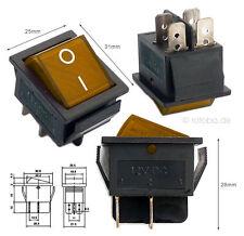 Beleuchteter Wippschalter orange 12V 35A EIN-AUS Schalter Lichtschalter #MK621o