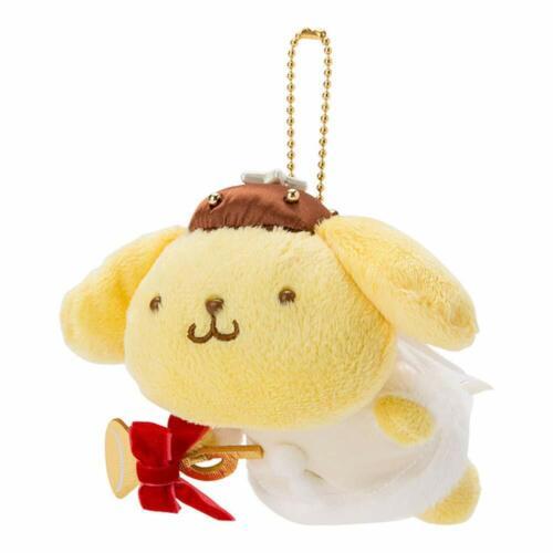 Sanrio Pom Pom Purin Plush Mascot Holder Keychain Angel Christmas japan