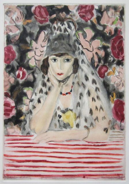 HENRI MATISSE (After) Original 1925 Color Aquatint By JACQUES VILLON
