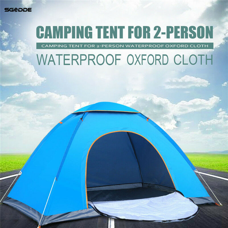 Camping Tent Outdoor Portable Waterproof Hiking Anti-UV 2 Person Ultralight new