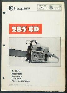 Husqvarna Model 285 Cd Chainsaw Dealer Parts List 1979 635231132901 Ebay