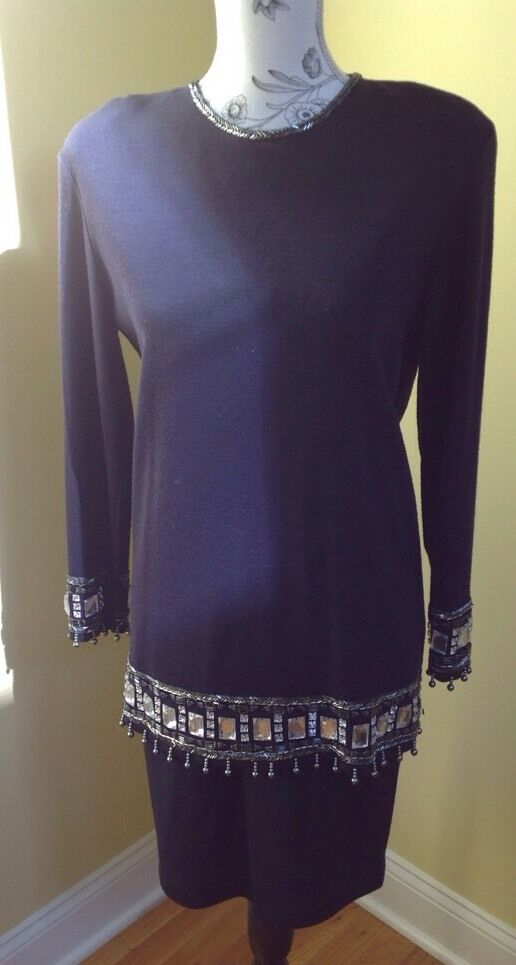 The Limited bluee With Beaded Top Skirt Set Size Small