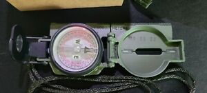 Cammenga Model 3H Tritium Lensatic Compass Olive Drab US Military Issue Pouch