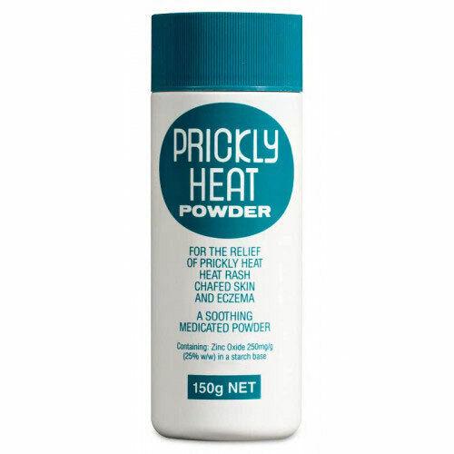 PRICKLY HEAT POWDER 150G RELIEVES HEAT RASH PRICKLY HEAT CHAFED SKIN ECZEMA