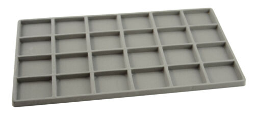 24 Compartment Tray//Box Insert Jewellery Counter Window Display Tray Insert