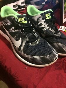 Nike Free 4 0 Flyknit Mens Shoes Size 8 5 Oreo Black White Running 642197 013 Ebay