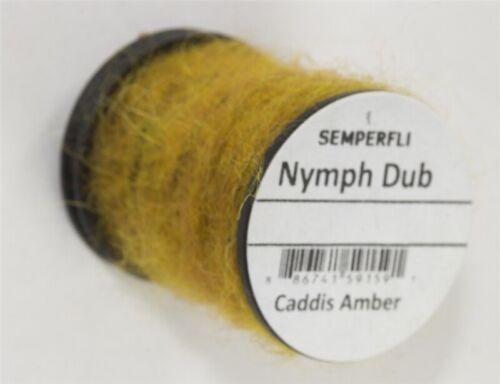 SemperFli Nymph Dub Caddis Amber Game Fly Fishing Materials