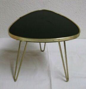 Anni-50-039-60-Tavolino-Sgabello-fiori-Cima-di-formica-Tre-gambe-50s-60s-Tavolo