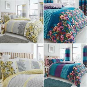 SAPHIRA Luxurious Reversible Duvet/Quilt Cover Bedding Set  All Sizes Home, Furniture & DIY