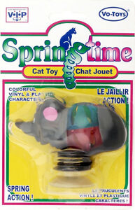 SpringTime-Mouse-Cat-Toy-Vinyl-Plastic-with-Suction-Cup-Bottom-Lot-Of-12