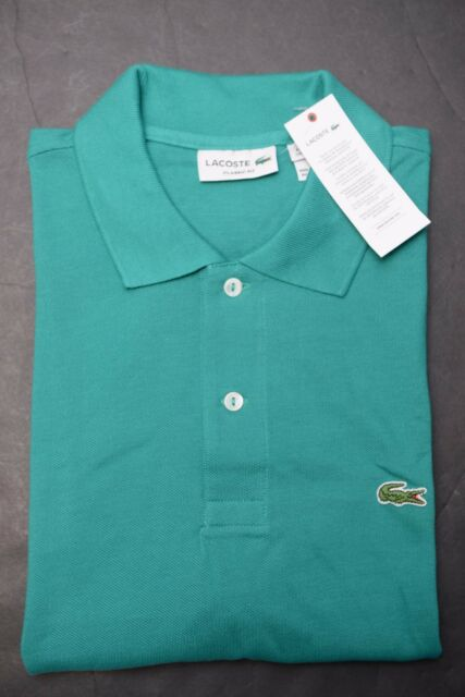 69ca545da26139 Lacoste L1212 Men s PIQUÉ Classic Fit Emerald Cotton Polo Shirt New 3XL ...