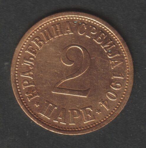 High quality KM#18 Serbia 2  Para 1904