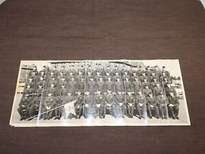 """VINTAGE 1955 20"""" X 8"""" FORT LEWIS WASHINGTON 72 D ARMY SOLDIERS MILITARY PHOTO"""