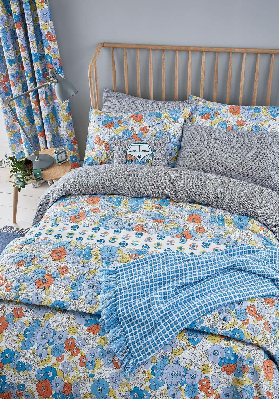 Helena Springfield PATSY Vintage Floral Blau Duvet Cover Set, Curtains   Cushion