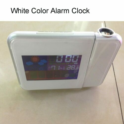 Projection Alarm Clock with Digital Laser Time Temperature Thermometer Humidity