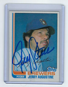 1982-BREWERS-Jerry-Augustine-signed-card-Topps-46-AUTO-Autographed-Milwaukee